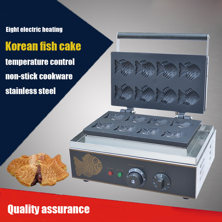 1PC FY-112-B Electric Korea Fish Waffle Maker Cake Maker Electrothermal Snack Equipment Baking Machine
