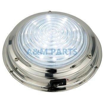 12V нержавеющая сталь LED Купол свет лодка морской RV кабина потолочный светильник 5,5