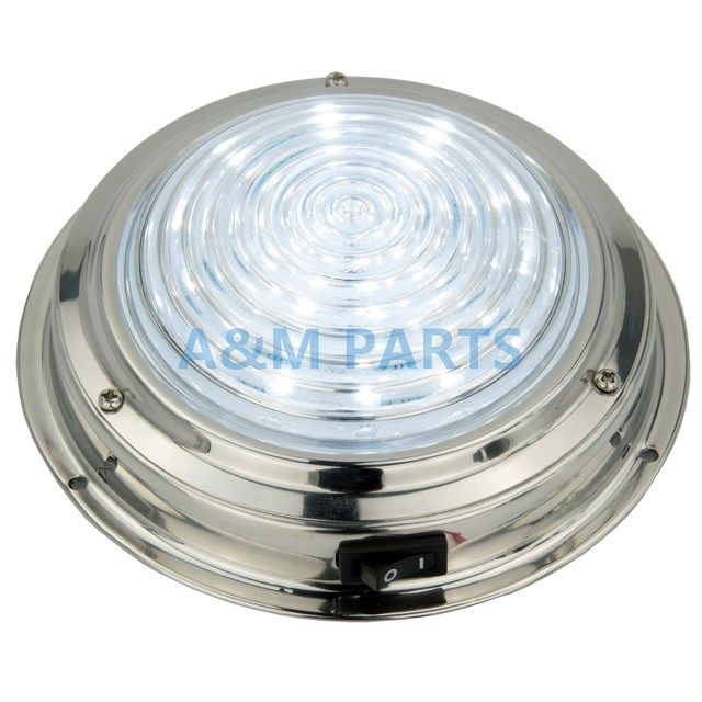 12v Stainless Steel Led Dome Light Boat Marine Rv Cabin Ceiling Lamp 5