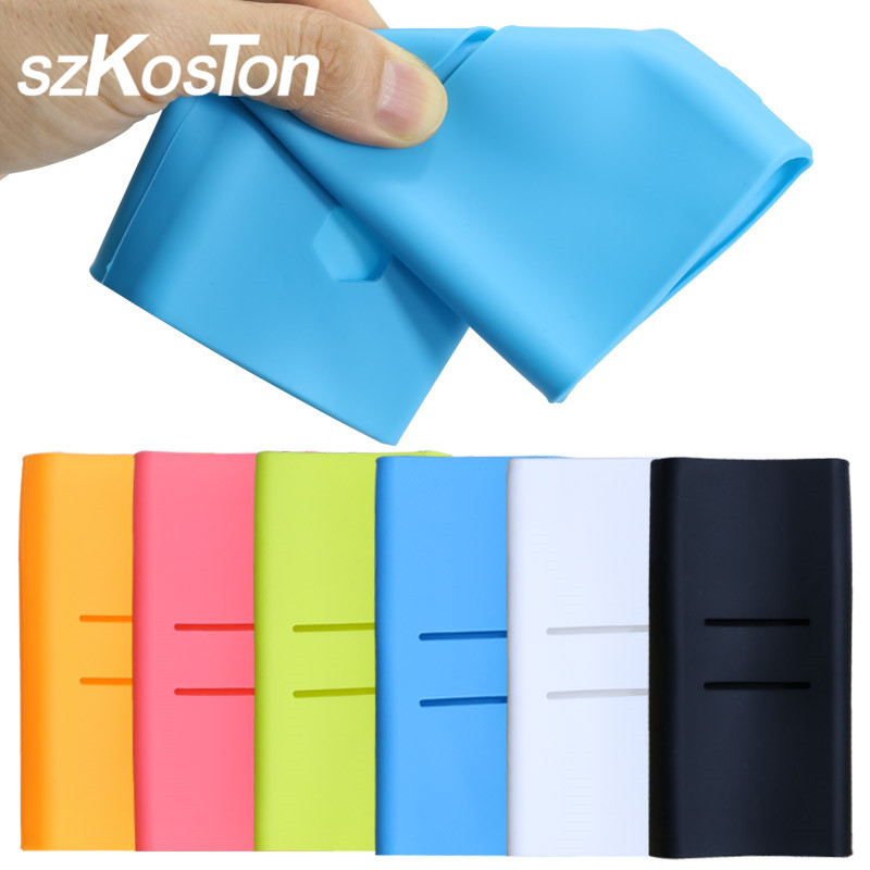 For <font><b>Xiaomi</b></font> Power Bank <font><b>2</b></font> <font><b>10000</b></font> <font><b>mAh</b></font> Power bank Case Rubber Sleeve Silicone Protective Case For <font><b>Xiaomi</b></font> Power bank Cover 20000mAh 2C image