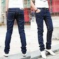 2016 Otoño Moda los Pantalones Vaqueros Clásicos Ocasionales de Los Hombres Famosos Vaqueros Rectos Coreanos Adelgazan Marca Pantalones Más El Tamaño 28-34