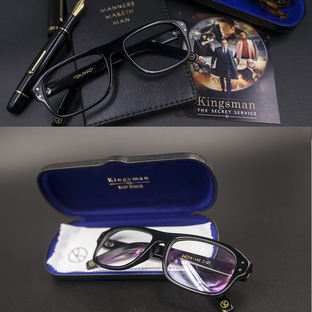 cb6622f085 Movie Kingsman The Golden Circle Secret Service Cosplay Eyewear Glasses  Eyeglasses Sunglasses Customized