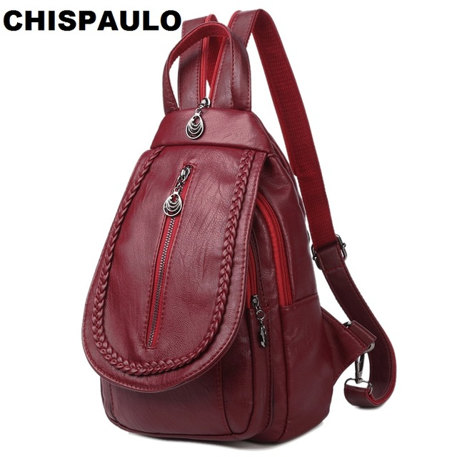 Fashion Women Genuine Leather Backpack Casual Kanken Backpack Ladies Laptop  School Bags For Girls Vintage Woman bed69f973dce8