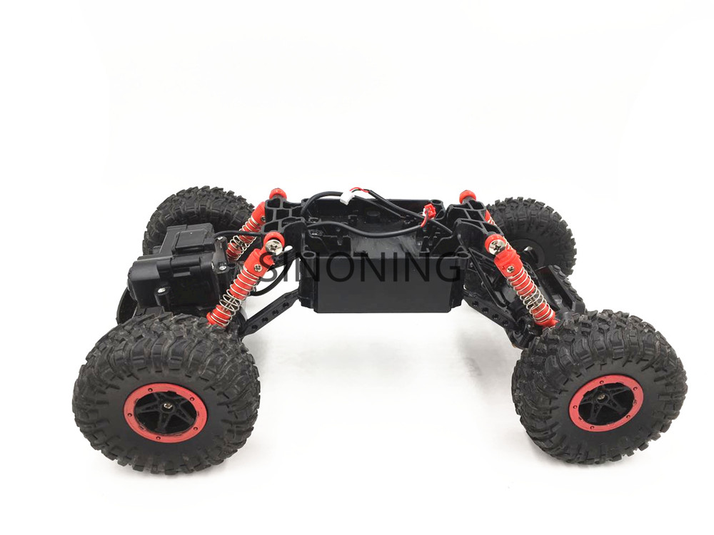 Rock Crawlers Driving Car Chassis 4WD Double Motors Drive Bigfoot 1:18 Model modify part robot car chassis SN170 25 type aluminum alloy wheel drive car tracking car driving robot 4 4wd smart car chassis