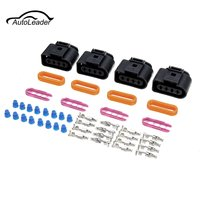 1 Set Ignition Coil Connector Repair Kit IC39 For Audi A4 A6 A8 for VW Passat Jetta GOLF Polo Touran Transporter car window curtains legal