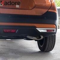For Nissan Kicks 2016 2017 ABS Chrome Rear Reflector Fog Light Lamp Cover Trim Bezel Frame