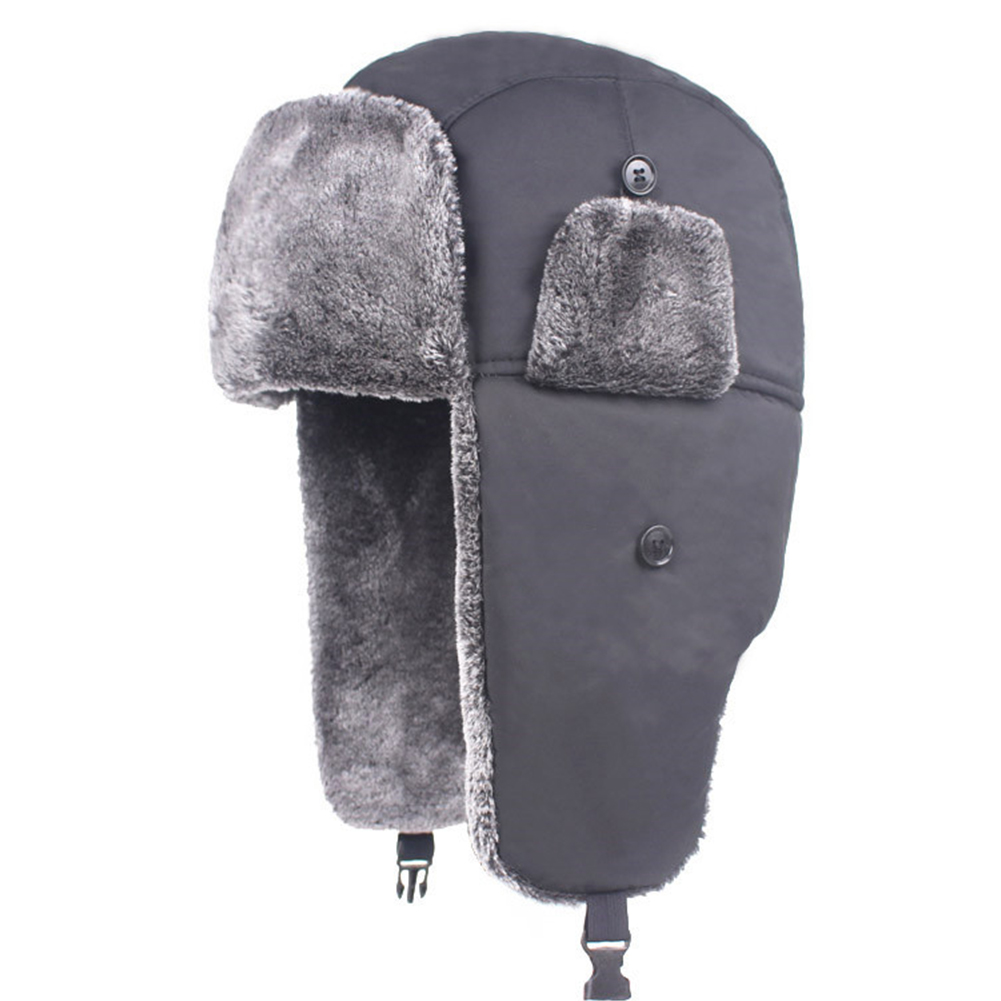 Unisex Thicken Windproof Warm Bomber Winter Simple Waterproof Hat Fur Lined Trapper Hat Ear Flap Caps(China)