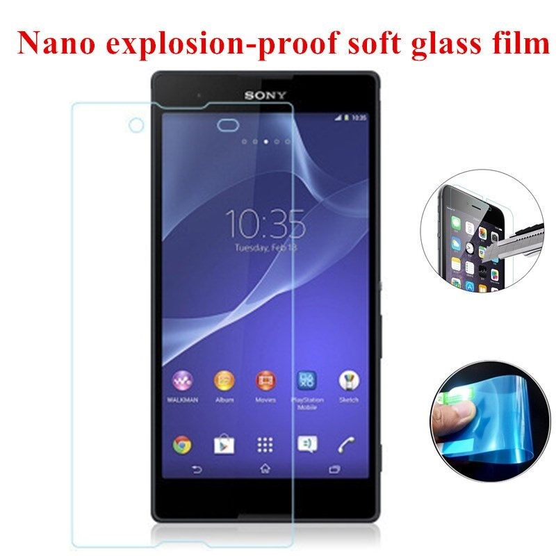 Nano Explosion-proof Soft Glass Clear Screen Protector Front Protective Film For <font><b>Sony</b></font> <font><b>Xperia</b></font> <font><b>E3</b></font> D2203 D2206 <font><b>D2202</b></font> Dual D2212 image