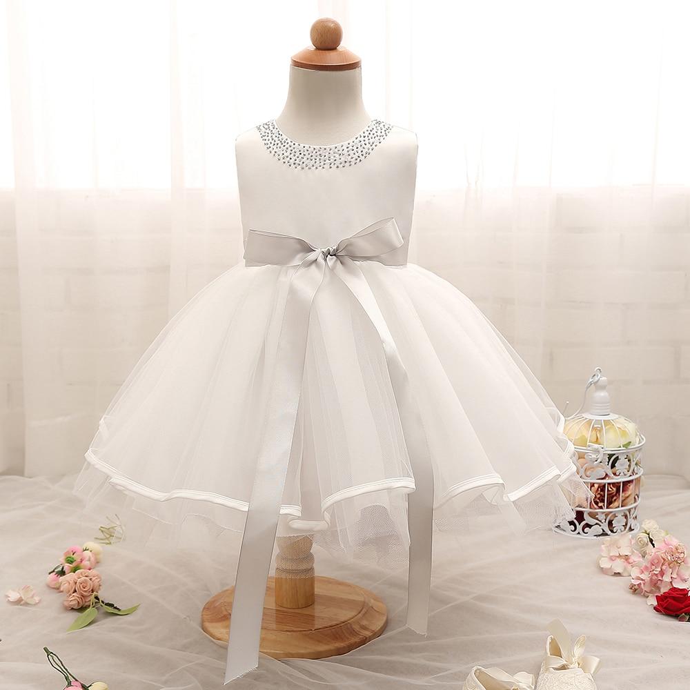Newborn Baby Christening Gown Infant Girl\'s White Princess Baptism ...
