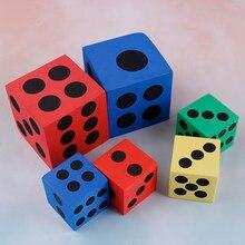 Espuma dot dice melhor promoção cor aleatória acrílico canto redondo dados 6 face morrer jogos de mesa portátil dados 1pc