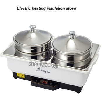 Commercial Electric heating insulation stove Restaurant kitchen equipment hotel buffet insulation soup porridge furnace 1pc