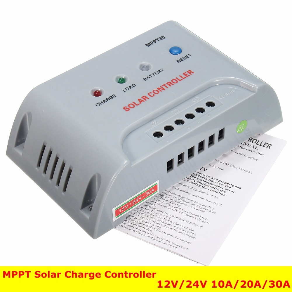 MPPT Solar Charge Controller 12V/24V 10A/20A/30A Solar Controller Charge and Discharge with SOC Function/ Control Charge Current digital meter charge and discharge tester dc 8 28v control switch dc 0 30v 10a ac 0 250v 10a relay controller