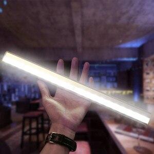 Image 4 - Беспроводной 20 светодиодный USB Перезаряжаемый Ночной светильник с ИК датчиком движения, светильник под шкафом, шкаф, кухонный датчик, светильник, лампа