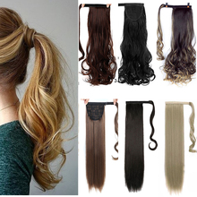 WTB Long curly hair straight hair synthetic ponytail clip ponytail heat-resistant clip in the hair extension hair tail mix auburn clip in straight hair extension 3pcs