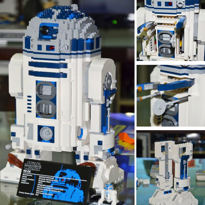Lepin 10225 Star 2127pcs Series Wars R2d2 Robot Building Blocks