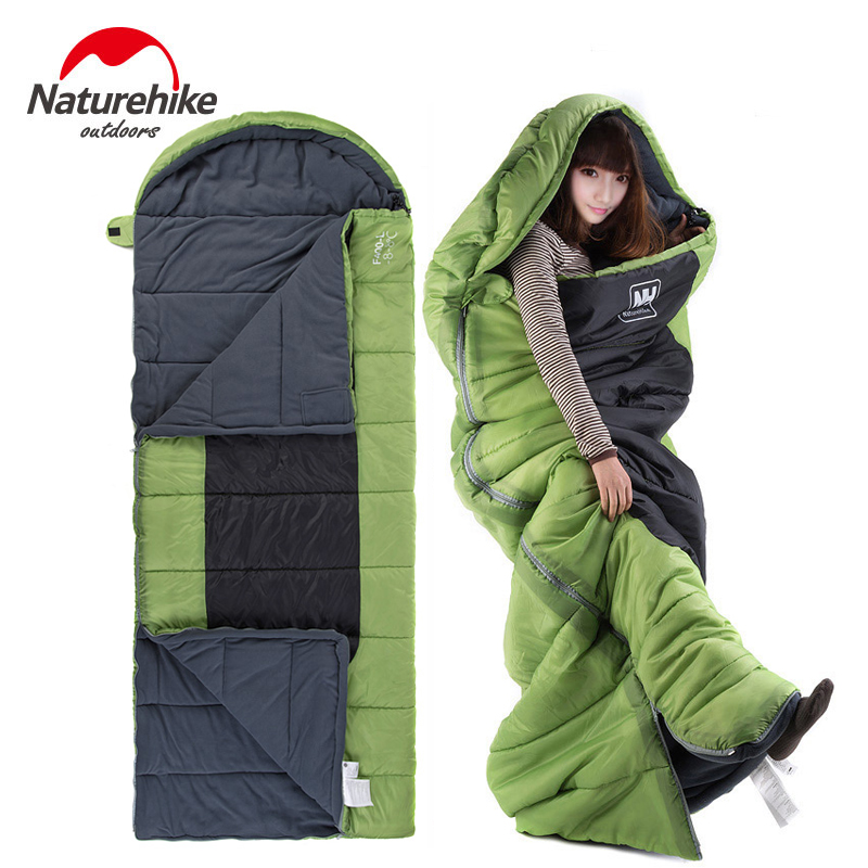 Naturehike Ultralight Portable Envelope Cotton Sleeping Bag Camping Sleeping Bag Outdoor Camping Travel 3 Colors M/L Size цена 2016
