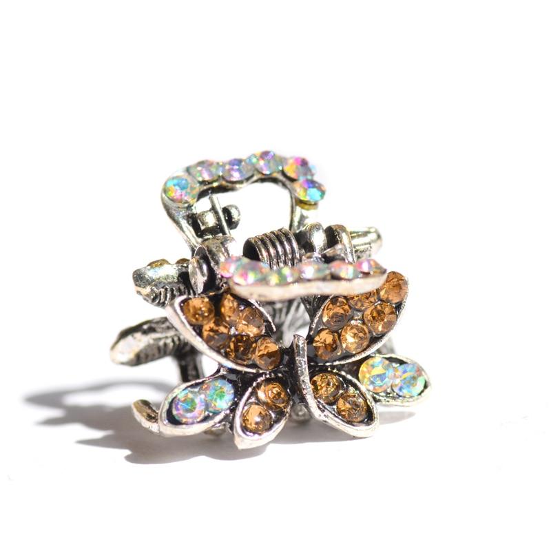 muylinda Butterfly Rhinestone Hair Claw Crab Smykker Vintage Women - Mode smykker - Foto 3