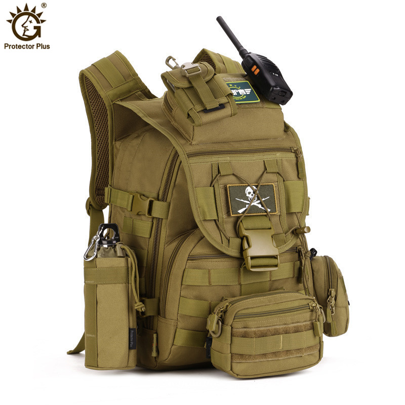 40L Waterproof Nylon Military Backpacks Tactics Backpack Army Rucksack Molle Assault Travel Bag for Men Women