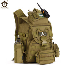 Outdoors Camping Bags,40L Waterproof Molle Backpacks Military 3P Tactical Backpack Assault Nylon Travel Bag for Men Women M108