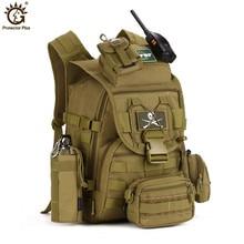 Outdoors Camping Bags,40L Waterproof Molle Backpacks Military 3P Tactical Backpack Assault Nylon Travel Bag for Men Women M108 feel pioneer 40l waterproof nylon women