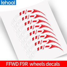 FFWD F9R two wheels rim set Stickers for 700C Road Bike bicycle fast forward bike sticker fit for 80 88 90 mm wheel Rims(China)