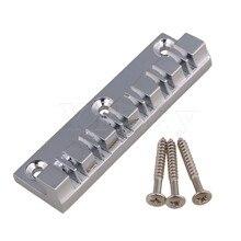 Yibuy 7.1×1.9x1cm Chrome Guitar Bridge 12 Strings Saddles Hardtail Metal Guitar Parts for Electric Guitar with Screw