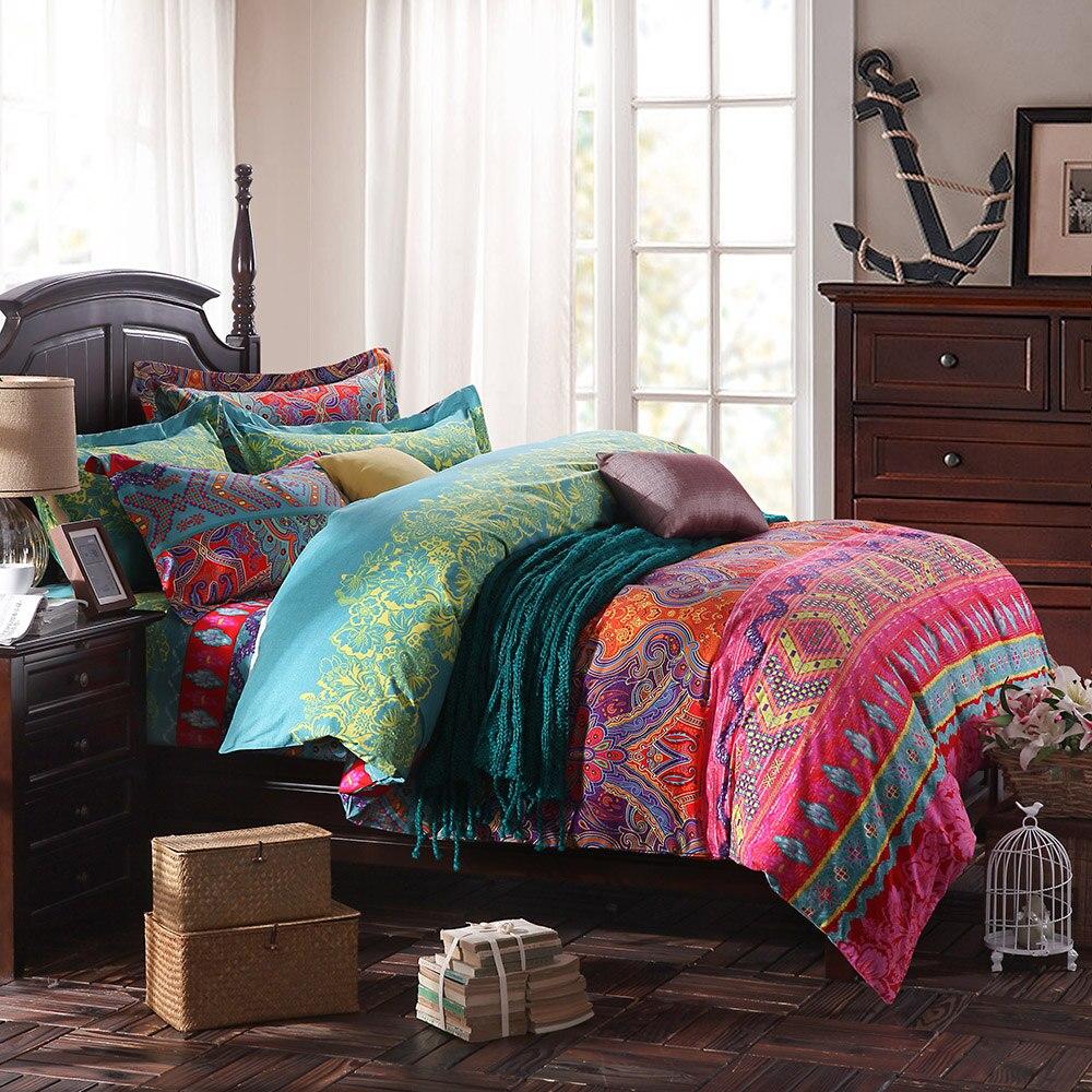 compare prices on duvet covers modern online shoppingbuy low  - modern paisley print duvet coversfashion exotic boho beddingelegantstriped bed sheet set