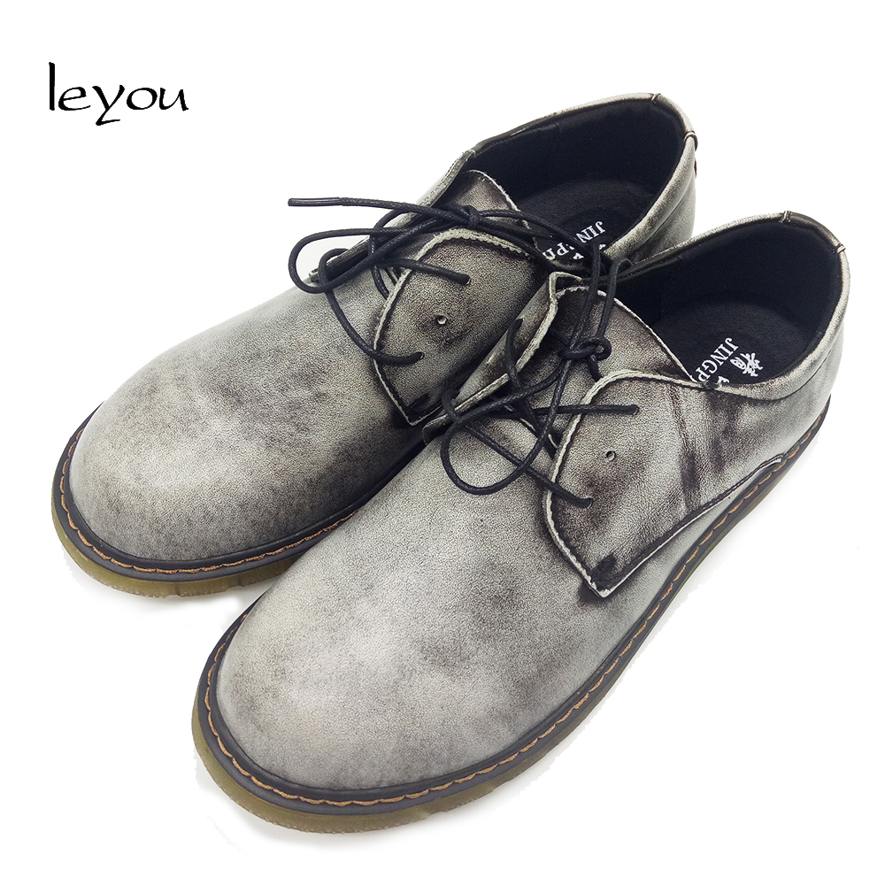 Men Oxford Genuine Leather Shoes Vintage Dress Formal Shoes Casual Leather Work Shoes Handmade Plus Size