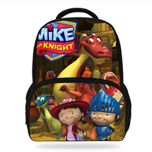 New 2019 Cartoon Mike the Knight Children Backpacks For Teenage Boys&Girls School Bags Movie character Book bags For Kids Boys ralph macchio michael mike marts x men the movie 1tru a
