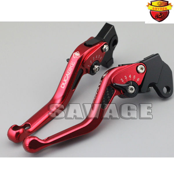 For KAWASAKI Z800 2013-2016, Z750 2007-2012 Red Motorcycle 3D Short Brake Clutch Levers Carbon Fiber Inlay hot motorcycle brake clutch levers handlebar grips ends for kawasaki ninja 300r z800 e version 2013 2016 z750 z 750 2007 2012