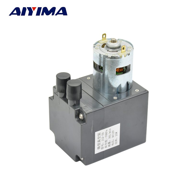 Aiyima New DC12V Mini Vacuum Pump Negative Pressure Air Exhaust Suction Pump Diaphragm Pressure Pump Large Flows 30L 3l m 100kpa pressure dc electric mini brushless vacuum pump