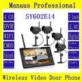 Уличные непромокаемые камеры высокого качества  4 шт.  7-дюймовый TFT цифровой монитор  2 4G беспроводной видеодомофон  4CH DVR  комплект безопаснос...