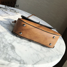 Mara's Dream Women Messenger Bag 2018 Vintage Small Leather Waterproof Handbag Vintage Casual Deer Metal Decorated Crossbody Bag