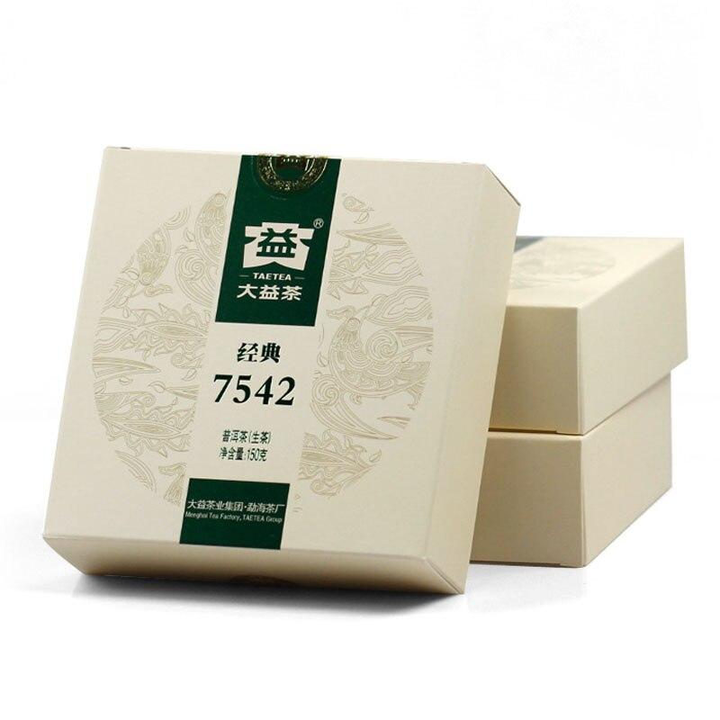 [GRANDNESS] Pu'er Tea Dayi Daetea 7542 150g Boxed Classic China Yunnan Menghai factory Puerh Puer 1401
