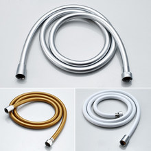Hochdruck Silber & Goldene PVC Glatte Dusche Schlauch Bad Handheld Dusche Kopf Flexible Dusche Schlauch Explosion-proof rohre