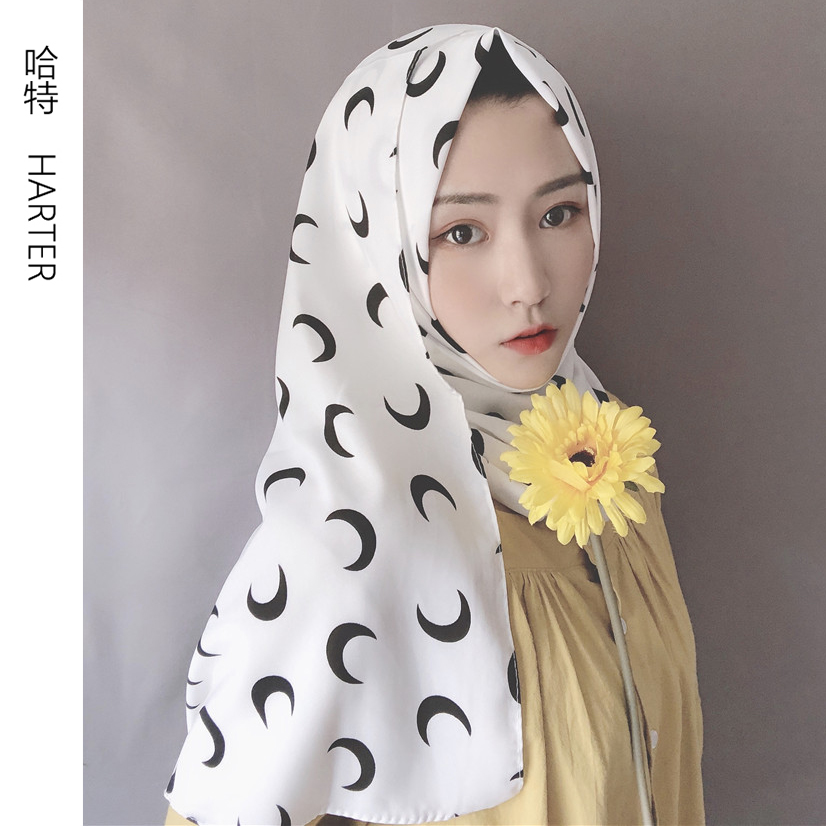 Islamic Warp Long Snake Skin Polyester Shawl Scarf Print High Quality Autumn