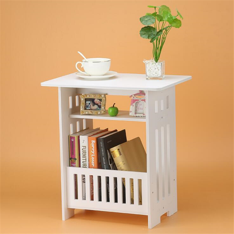 European Style Coffee Table Bedroom Balcony Leisure Magazine Storage Home Decoration Table,Desks  Study Room for Kids  -  WHITE