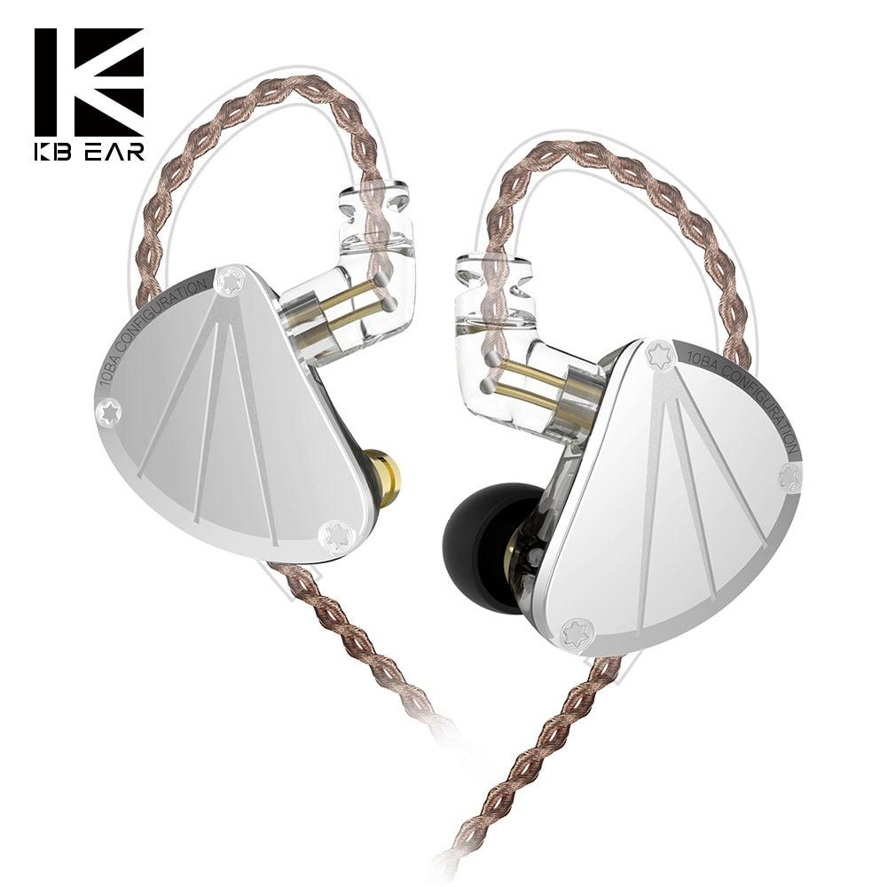 KB oreille KB10 5BA dans l'oreille écouteur en cours d'exécution Sport technologie HIFI casque avec micro bouchon d'oreille