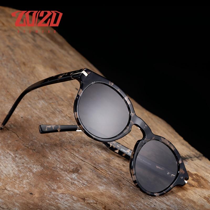 20/20 Brand Classic Acetate Polarized Sunglasses Men Fishing
