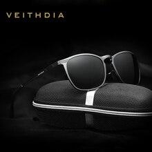 2016 VEITHDIA gafas de Diseñador de la Marca Nueva de la llegada gafas de Sol Polarizadas Hombres Vintage Hombre Gafas de Sol gafas gafas de sol masculino 6630