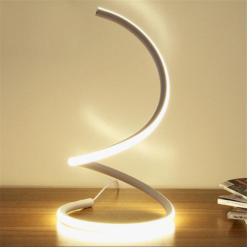 Nordic Simple LED Desk Lamps Reading Lampara Table Night For Bedroom Table Lamp 15W EU US Plug Bedside Lamp Abajur AC110 220V