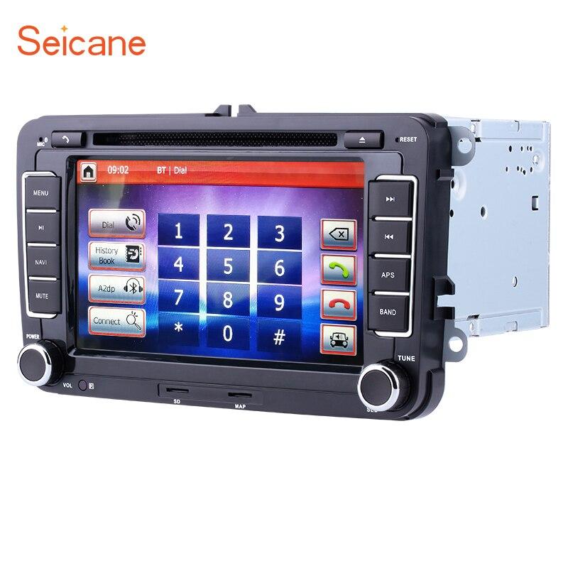 Seicane WinCE 6,0 2din 7 Универсальный Автомобильный dvd-радио Bluetooth gps с SD для SKODA Octavia VW Polo T5 Бора Гольф B6 SEAT Leon