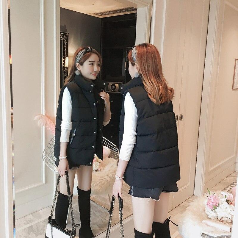 Mode Parkas Mince Femmes Chaud Survêtement Pour blanc Noir Veste Gilets Épaississent Coton Manteau Hiver Manteaux Gilet Noir Femme Blanc 2018 Et Xvxwz0nzBq