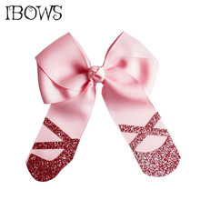 4.5 Inch Fashion Hairclip Girls Boitique Cheer Bows With Glitter Hairgrips Dance Party Hair Accessories Children Birthday Gift(China)