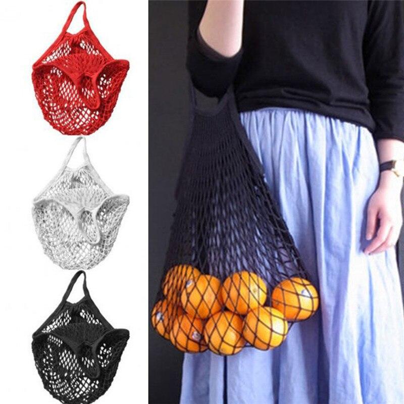 High Quality Mesh Net Shopping Bag Reusable String Vegetable Fruit Storage Handbag Foldable Women Hopper Bag Mesh Bag