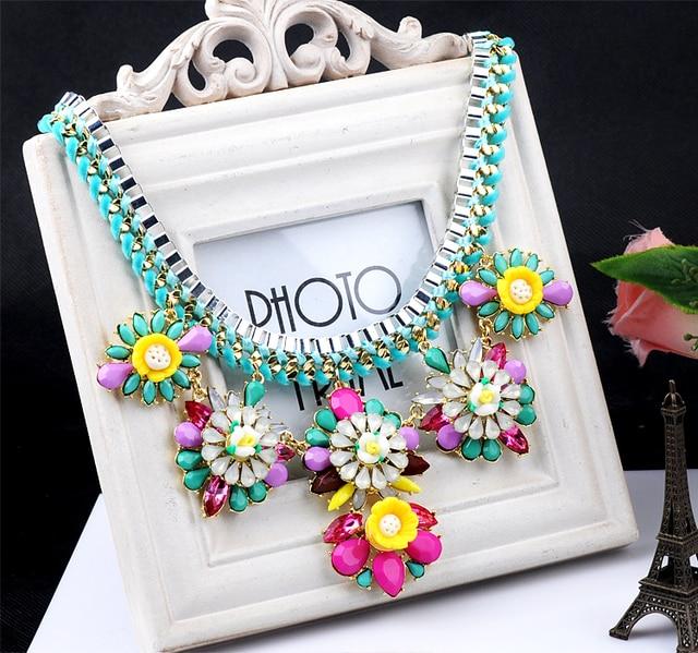 N00073 2014 necklaces & pendants Trend fashion vintage items choker flower statement necklace women jewelry