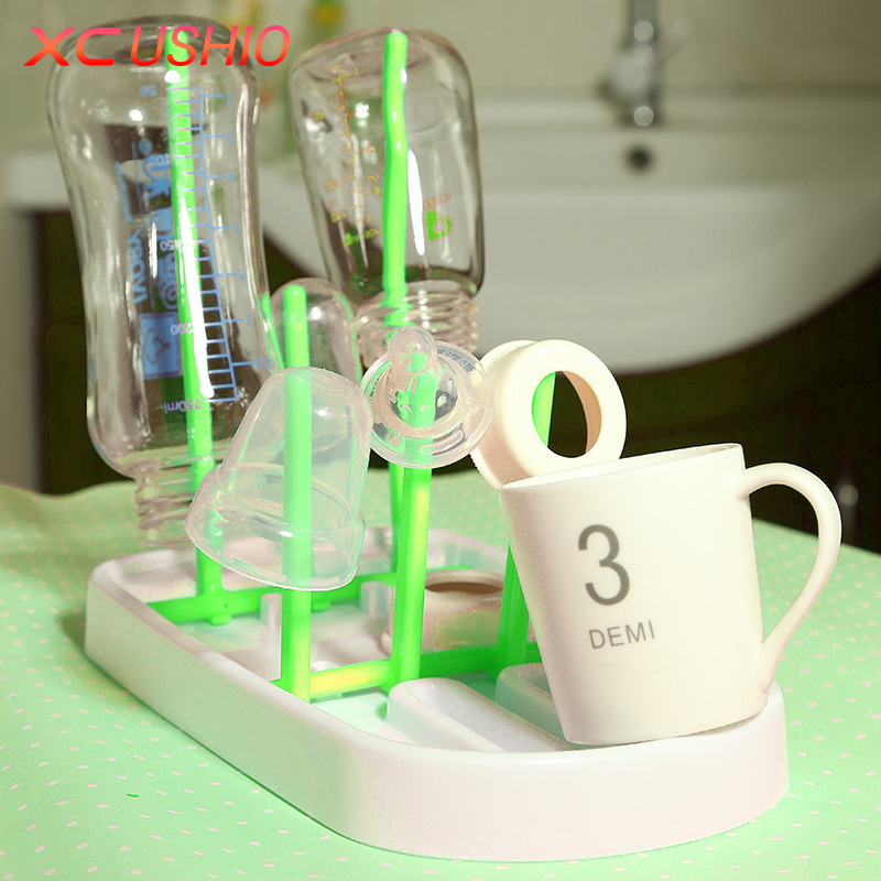Opvouwbare Babyfles Droogrek Opknoping Zuigfles Cups Houder Zuigeling Tepel Keuken Afvoerplank Afdruiprek voor Babyflessen