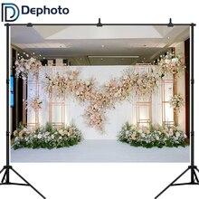 Photo Backgrounds Wedding-Bridal Banner Flower Decoration White Floral Pink 3D