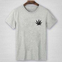 Hemp Leaf Print pocket t shirt Men Tshirt summer short sleeve tops tee shirt Homme Camisetas Hombre Leaves Tshirt male t-shirt