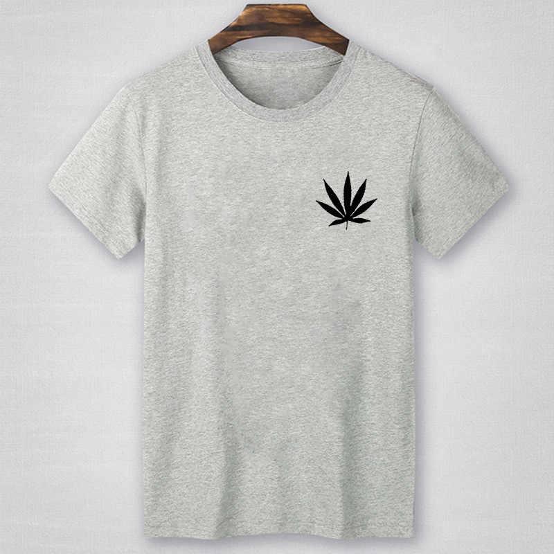 29199c8b Hemp Leaf Print pocket t shirt Men Tshirt summer short sleeve tops tee shirt  Homme Camisetas